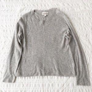 Ellen Tracy Grey 100% Cashmere Sweater XL